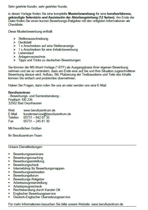 Bewerbung - Assistenz der Abteilungsleitung (gekündigt)/ berufserfahrene Sekretärin