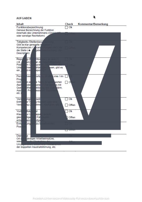 Arbeitsvertrag Checkliste (Arbeitgeber)