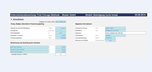 Excel-Tool Unternehmensbewertung - Valuation Box