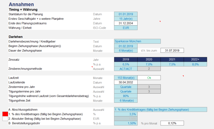 Excel - Darlehensrechner