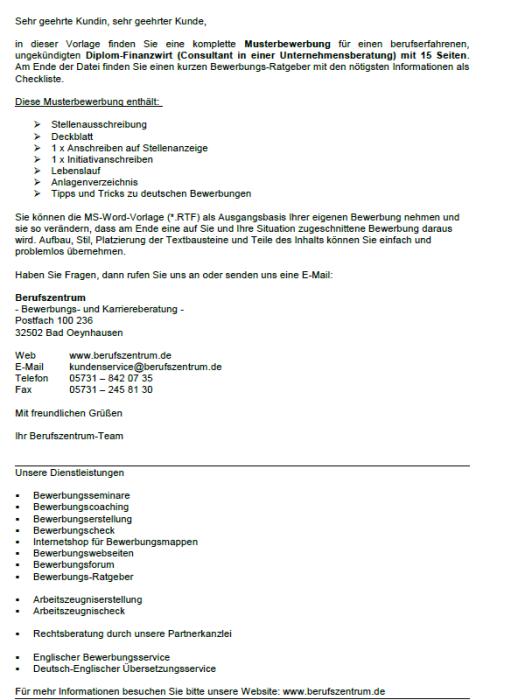 Bewerbung - Diplom - Finanzwirt (Consultant, Unternehmensberatung), ungekündigt (Berufserfahrung)
