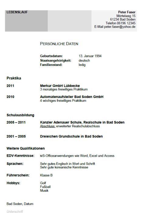 Bewerbung - Fachkraft für Automatenservice (Ausbildung)