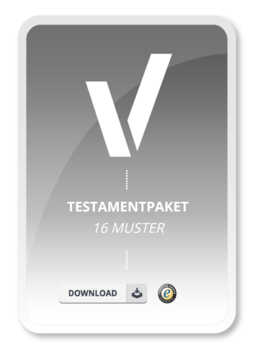 16 Muster Testamente im Sparpaket