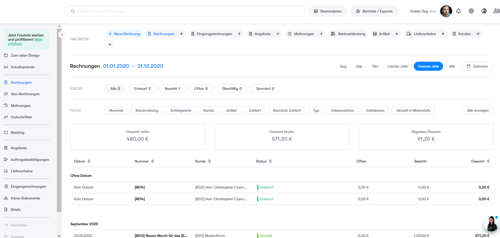 billomat - Rechnungen schreiben/Dokumente verwalten