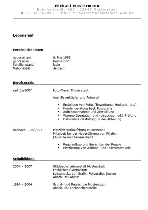 Bewerbung - Grafikdesigner (Ausbildung)