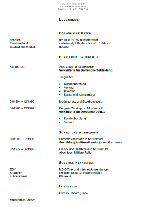 Bewerbung - Bürohilfskraft / Helferin in der Büroorganisation und Verwaltung (Aushilfe)