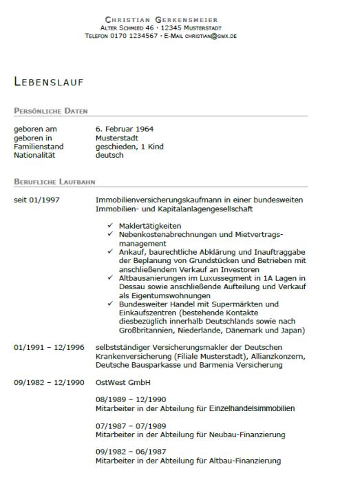 Bewerbung - Immobilienfachwirt (Seiteneinsteiger)