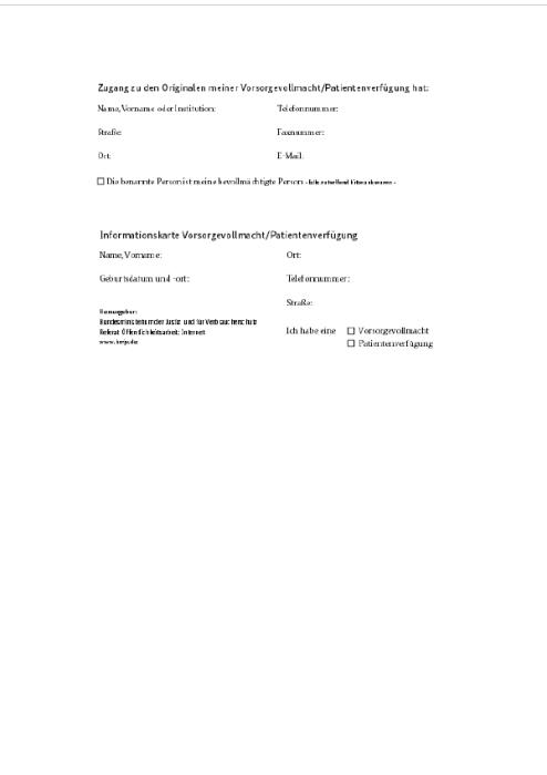 Ratgeber - Patientenverfügung, Vorsorgevollmacht und Betreuungsverfügung