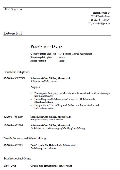 Bewerbung - Messebauer (Aushilfe)