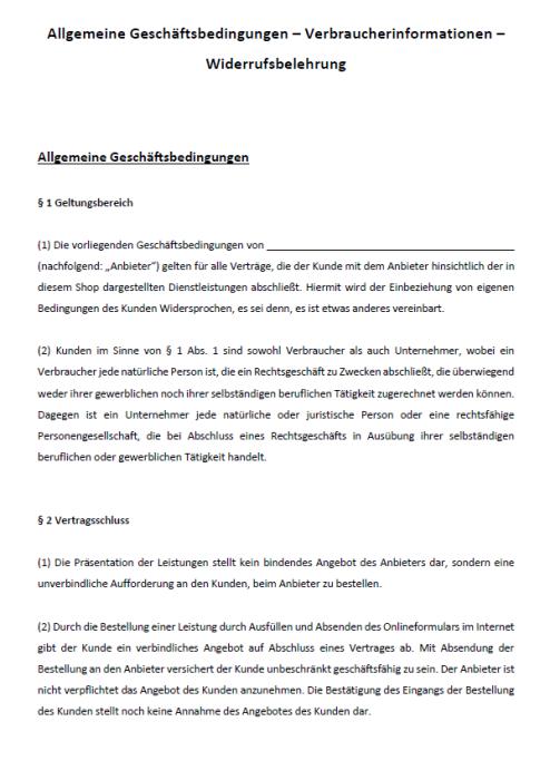 Sparpaket - AGB Online-Shop