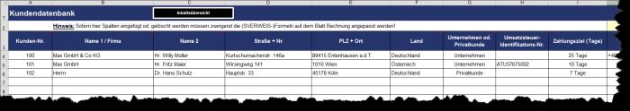 Rechnungsgenerator - Excel