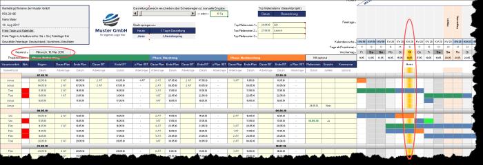 Excel-Projektmanagement-Paket