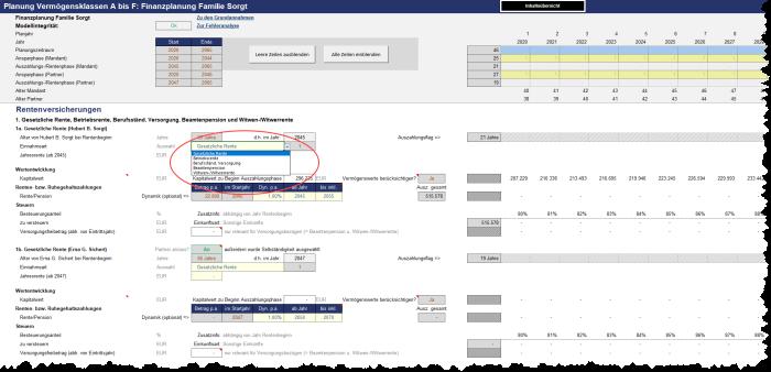 Private Finanz- und Vermögensplanung (Excel-Tool)