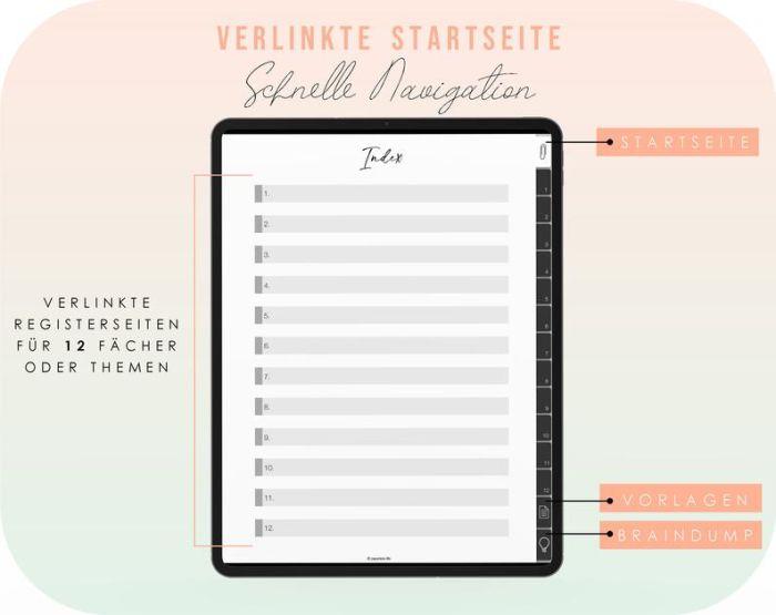 Digitales Notizbuch // iPad Notizbuch