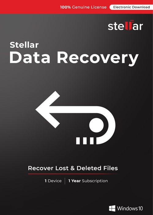 Stellar Information Technology Private Limited - Data Recovery Standard - Windows V10