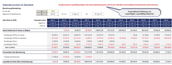 Excel-Liquiditätsplanung PREMIUM - Dauerlizenz