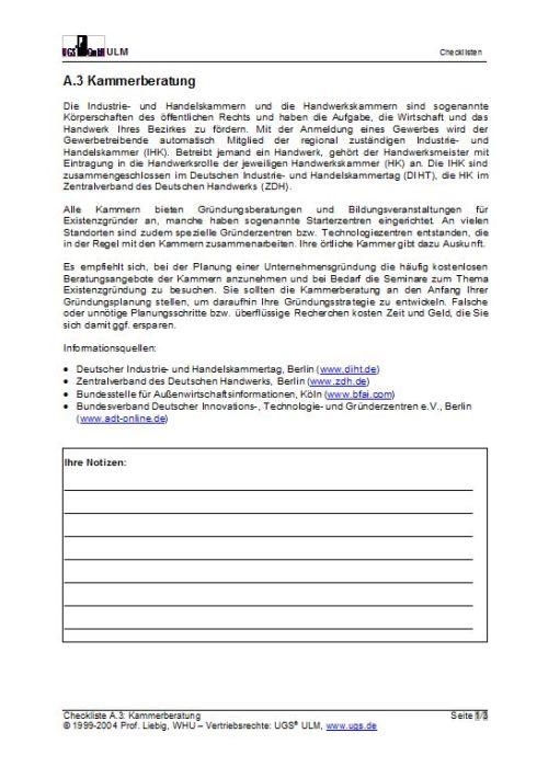 Vorteilspaket Checklisten - Gründungsvorbereitung