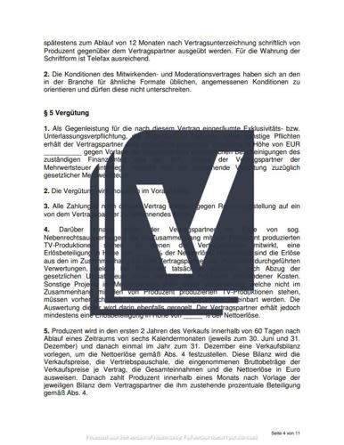 Exklusivitätsvereinbarung