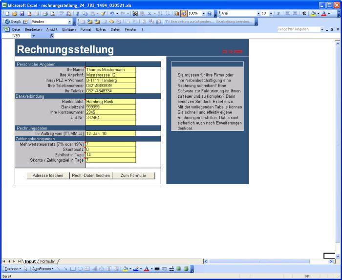 Rechnungen (Basis Netto-Preis) erstellen