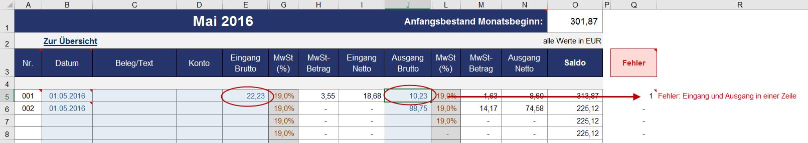 Profi Kassenbuch Vorlage In Excel Zum Download