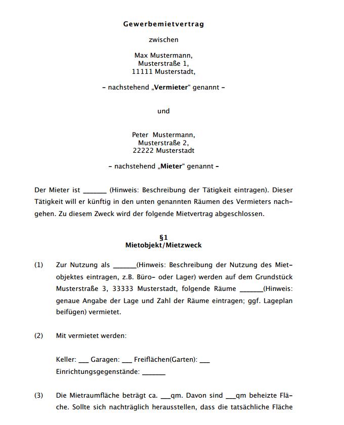18 Neu Einfacher Mietvertrag Vorlage Kostenlos 15