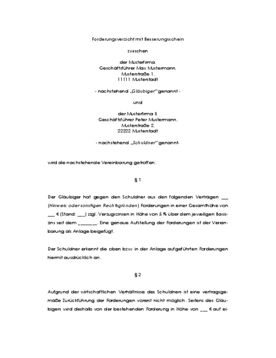 Trennungsvereinbarung Muster Und Infos Zum Thema