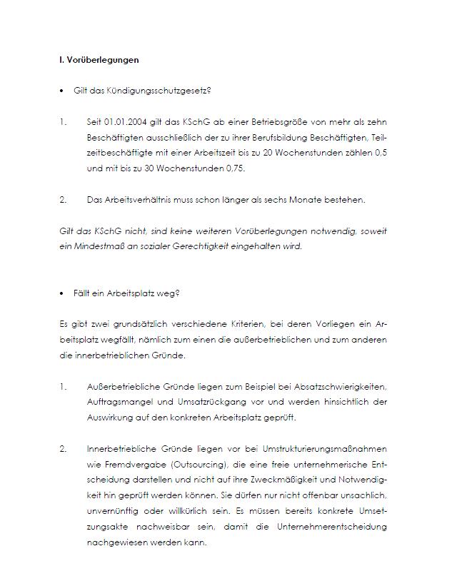 Betriebsbedingte Kundigung Checkliste Zum Sofortdownload