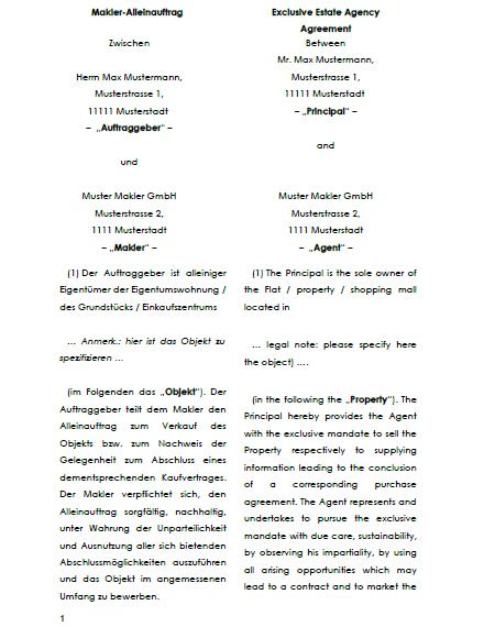 Maklervertrag Suchauftrag Kaufer Muster Zum Download 14