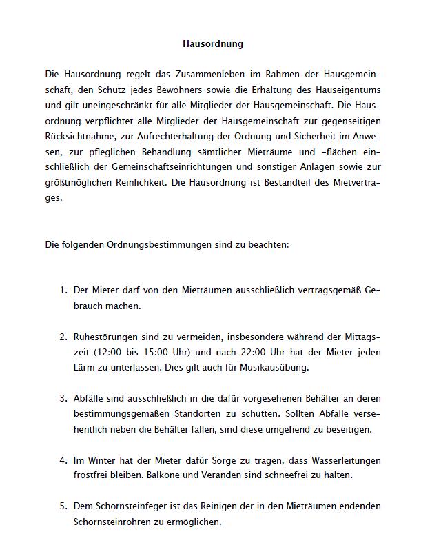 Hausordnung Vorlage Schweiz Kostenlose Word Vorlage Vorla Ch 10