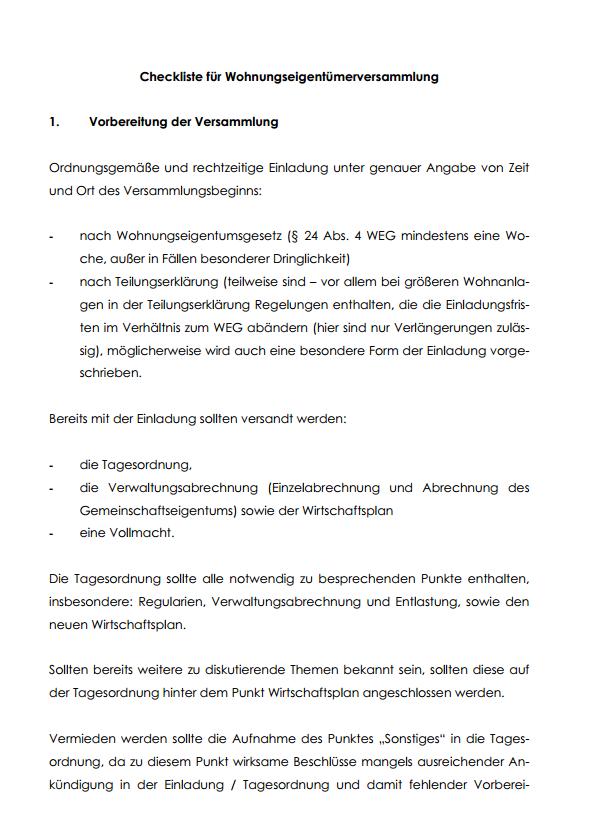 Protokoll Wohnungseigentumerversammlung Vorlage Zum Download