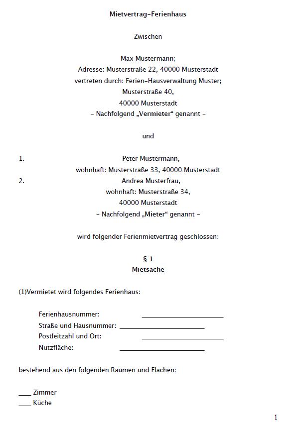 Vorvertrag Fur Berufsfachschuler Muster Zum Download