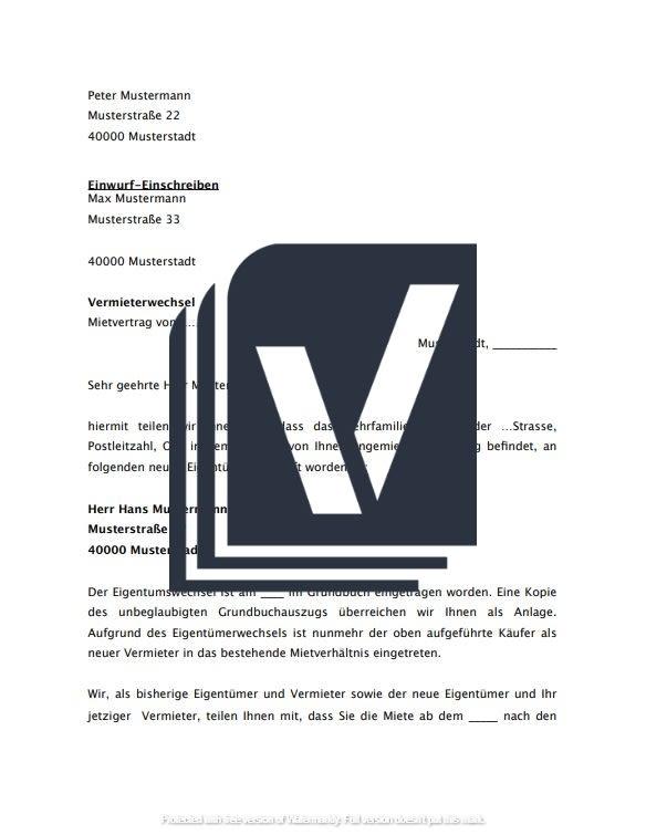 Anzeige Vermieterwechsel Musterbrief Zum Download 10