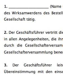 Geschaftsfuhrervertrag Gmbh Muster Zum Download 0