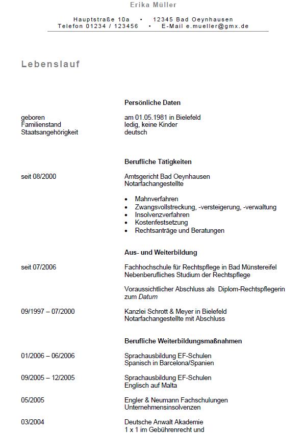 Bewerbung Rechtspflege Praktikum Sofort Download