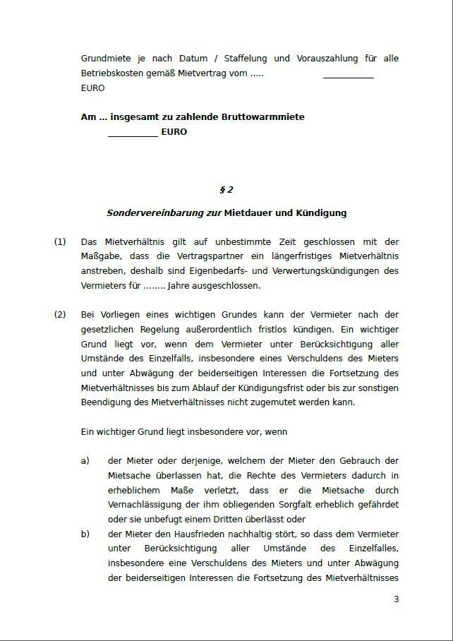 Mietzusatzvereinbarung Staffelmiete Muster Zum Download