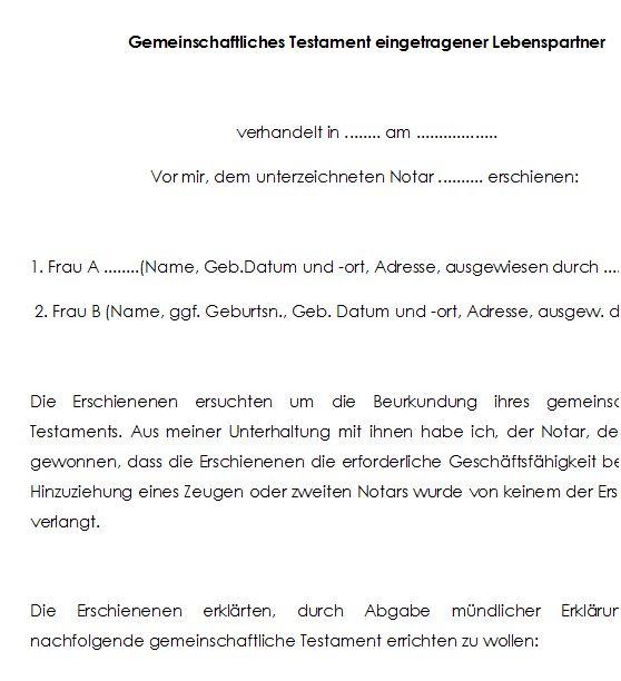 Berliner Testament Einheitslosung Mit Kinder