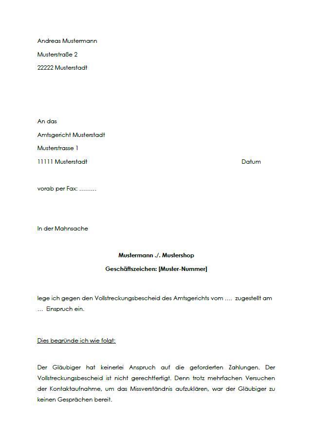 Einspruch Antrag Aussetzung Der Vollziehung 15