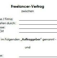 Freier Mitarbeitervertrag Grafiker Muster Zum Download