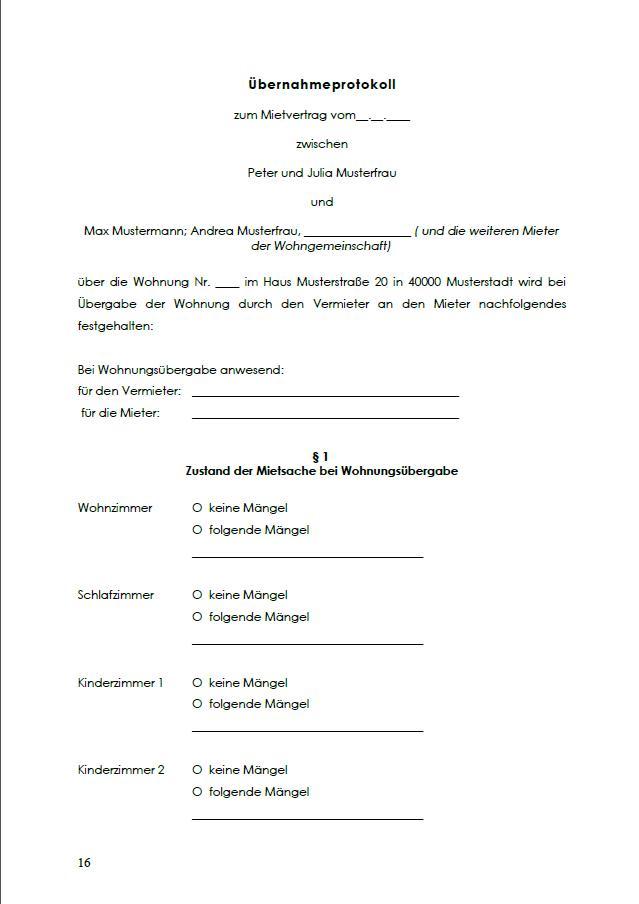 Untermietvertrag Wg Zimmer Vorlage Sofort Zum Download 8