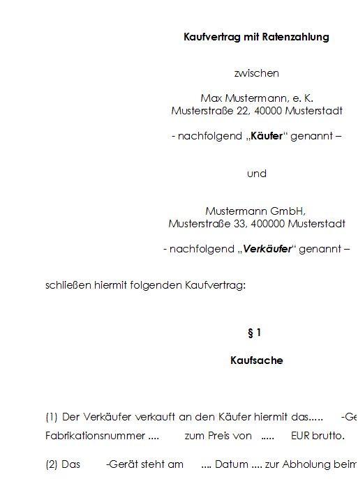 Brief Zur Zahlungsaufforderung Bei Ratenzahlung 6