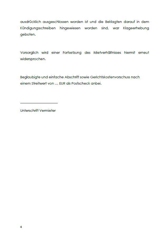 Raumungsklageerwiderung Mieter Zum Download 7