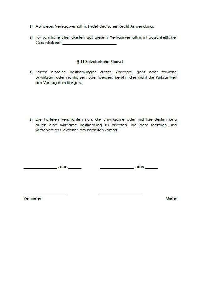 Software Mietvertrag Vorlage Sofort Zum Download 6