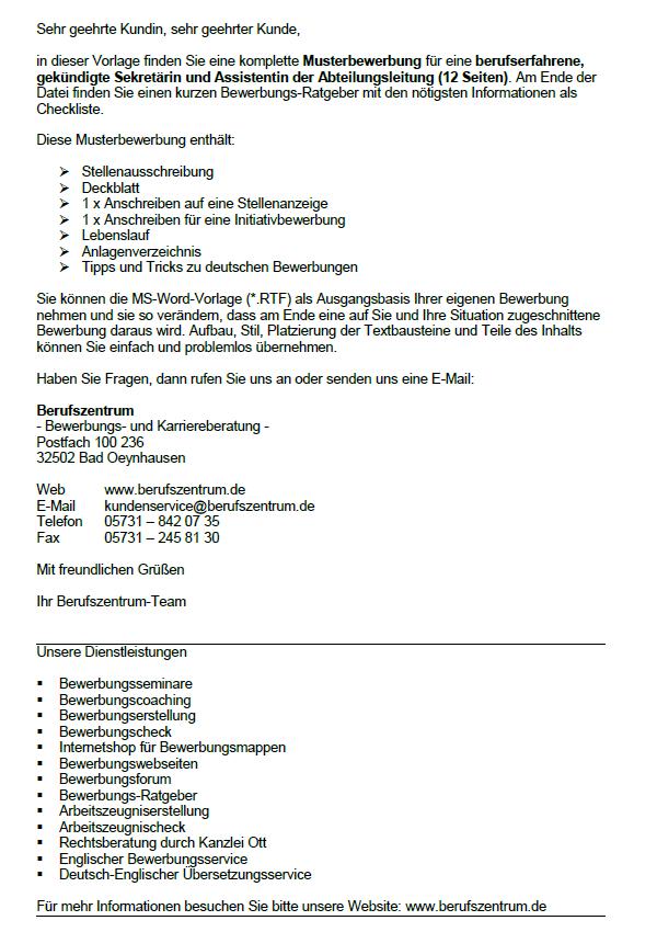 Bewerbungsschreiben Assistentin Der Geschaftsfuhrung 3