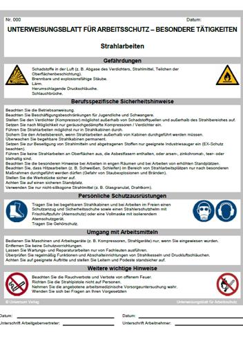 Hausmeister Unterweisungsblatt Zum Download Universum Shop 4