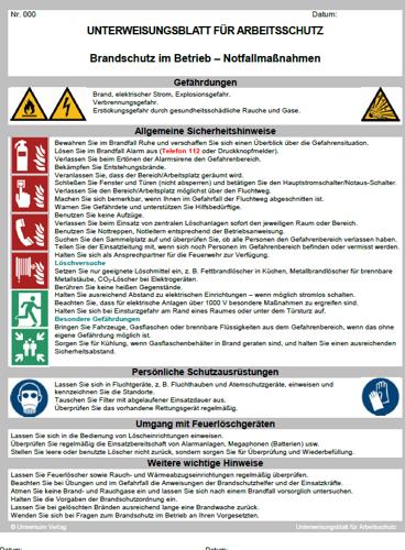 Brandschutz Unterweisung Sofort Zum Download