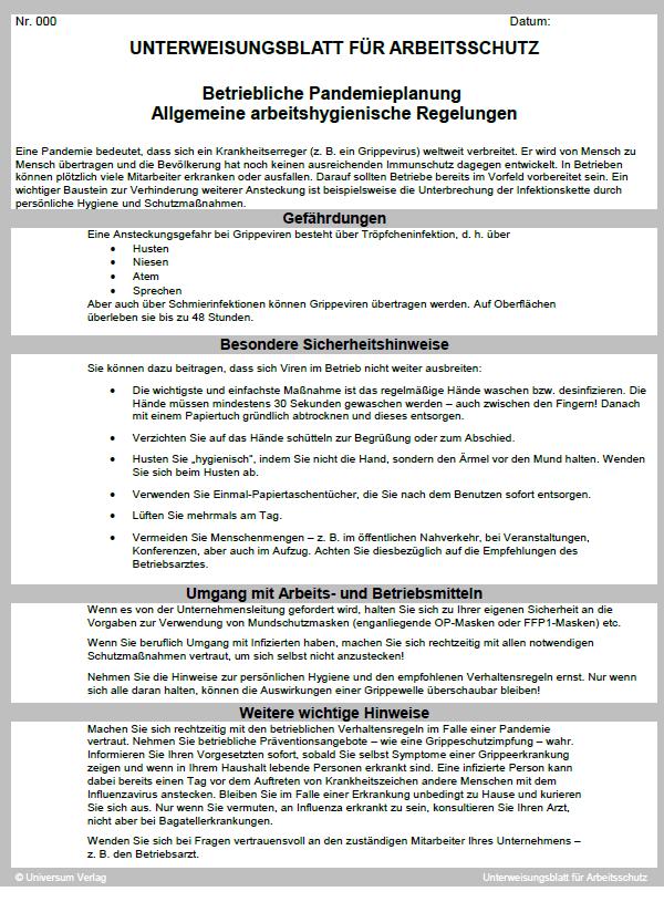 Notfallplan Im Unternehmen Bei Pandemie Coronavirus 4