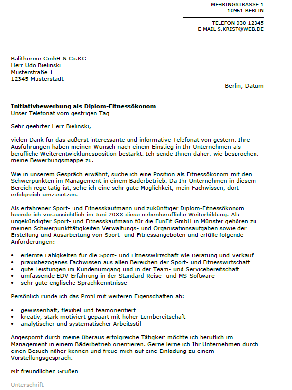 Sport Und Fitnesskaufmann Frau Berufsbild Bewerbung 5
