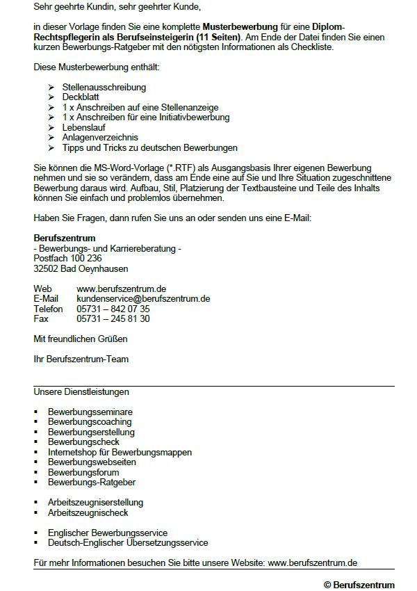 Bewerbung Zum Download Rechtspfleger Rechtspflegerin 1