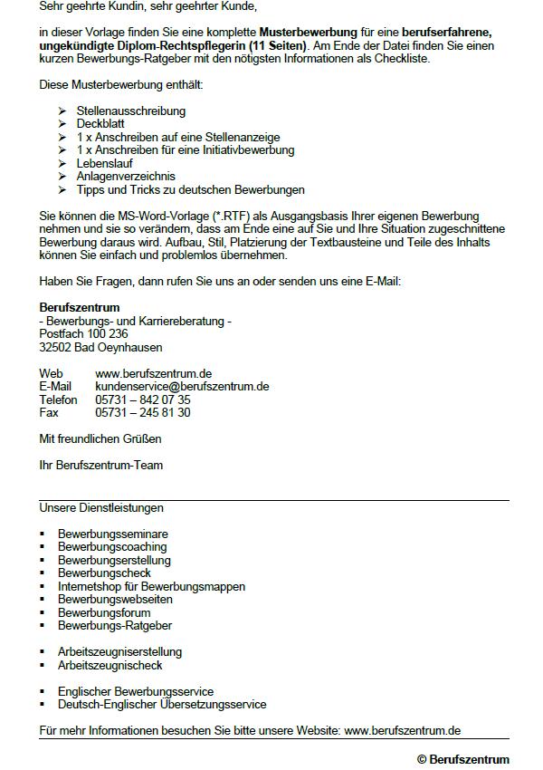 Bewerbung Zum Download Rechtspfleger Rechtspflegerin