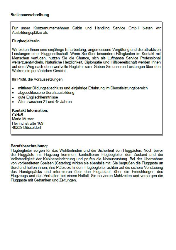Bewerbungsschreiben Fluggeratmechaniker Instandhaltung 13